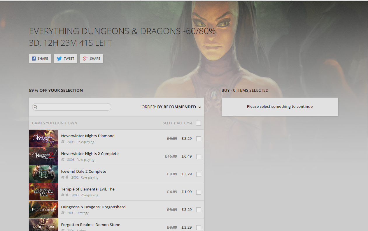 D&D sale on GOG